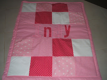 Pretty pink and white quilt
