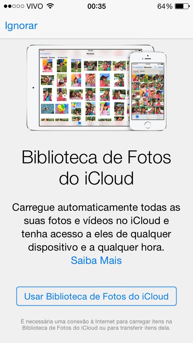 Biblioteca de Fotos do iCloud iOS 8 beta 3