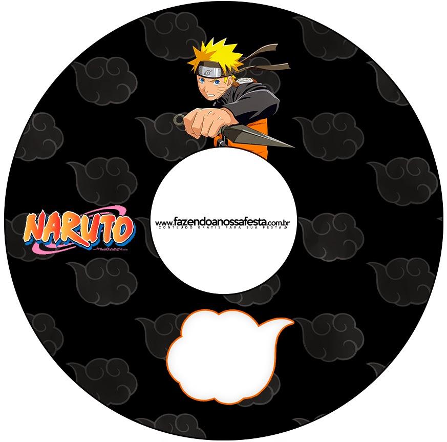 Etiquetas de Naruto para CD's.