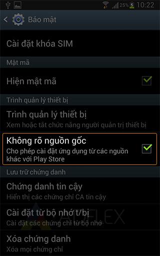 Cai dat ung dung ngoai Google Play
