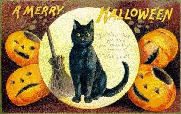 Edwardian Halloween Postcard