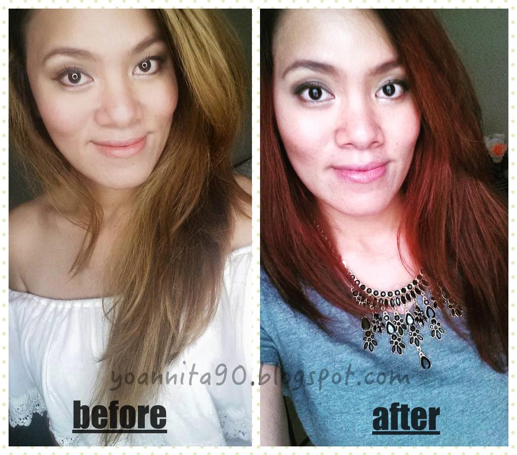 Yoannita90 Hair Transformation From Medium Ash Blonde To Burgundy