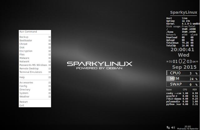 SparkyLinux - Lightweight fast Debian-based Linux Distribution