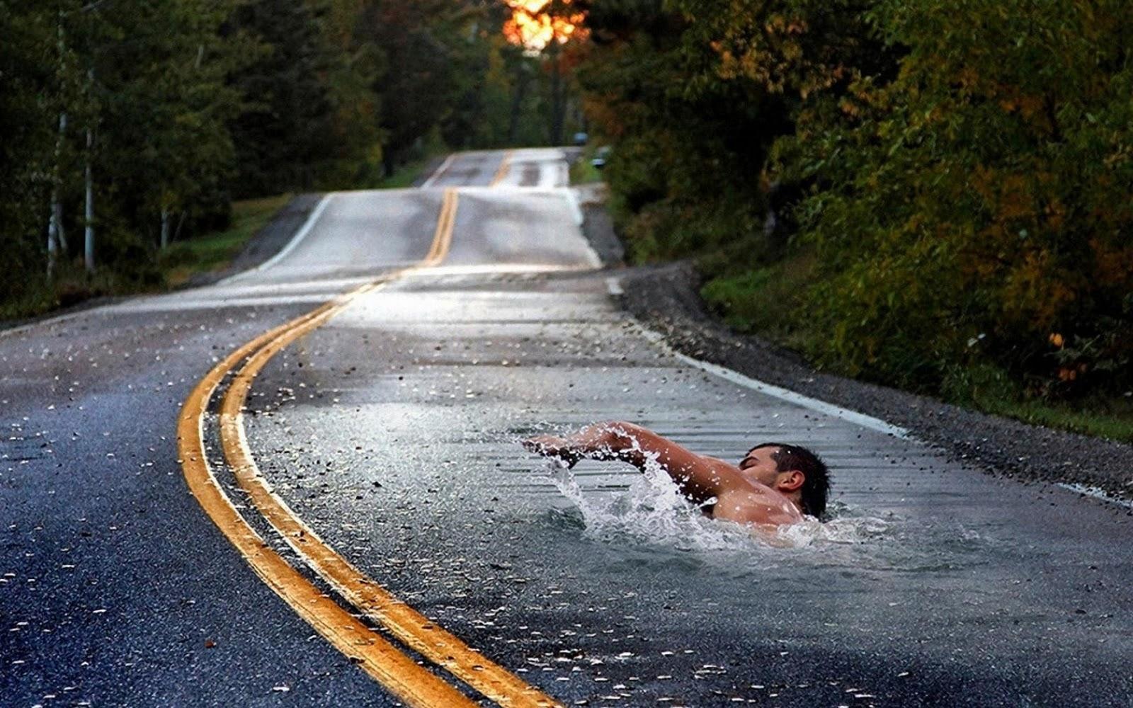 Natación tras el parto carretera