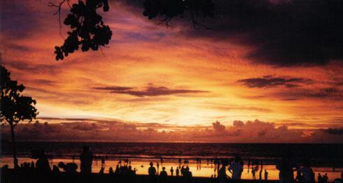 Sunset In Kuta