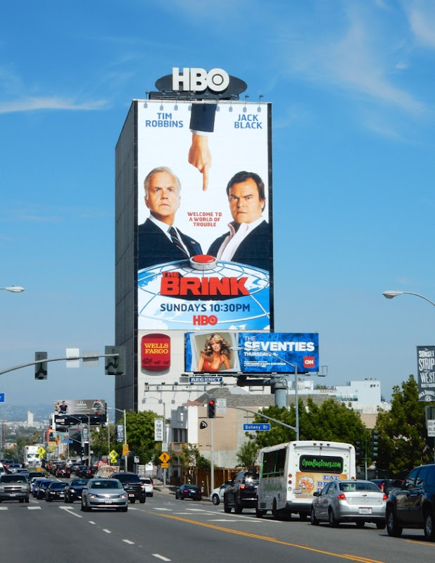 The Brink season 1 giant billboard Sunset Strip