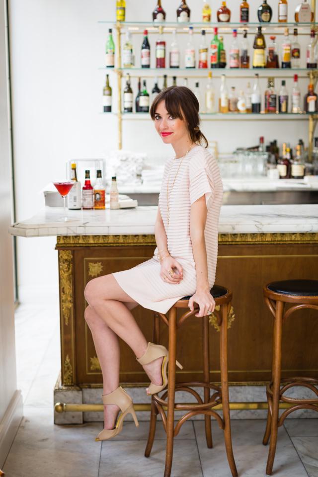 pretty feminine dress at a fun los angeles restaurant M Loves M @marmar