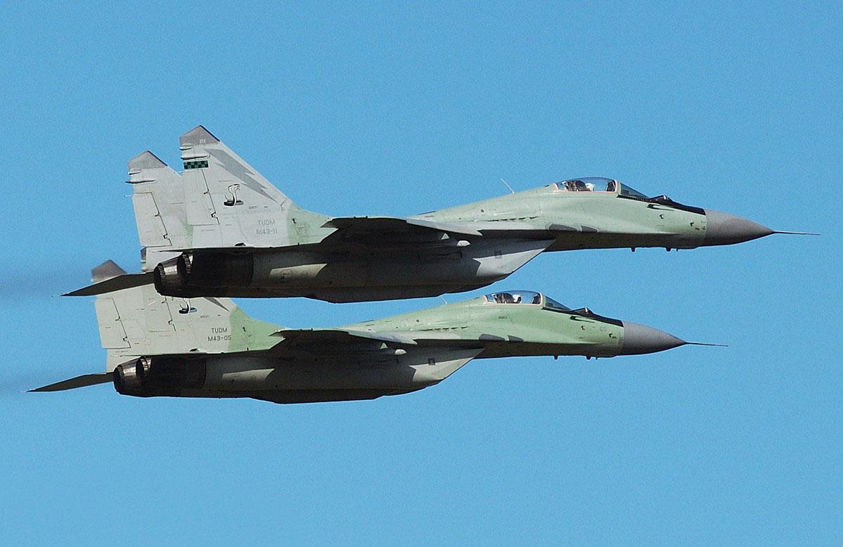 Los MIG 29 son los aviones más opcionados para equipar la flota de combate de Nicaragua.