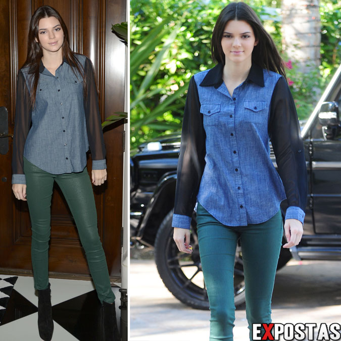 Kendall Jenner chegando em sua casa na Califrnia para gravar Reality Show - 24 de Outubro de 2012