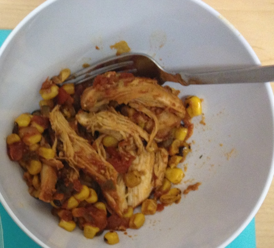 Healthy crockpot mexican chicken recipe lauren gleisberg for Chicken recipes in crock pot healthy