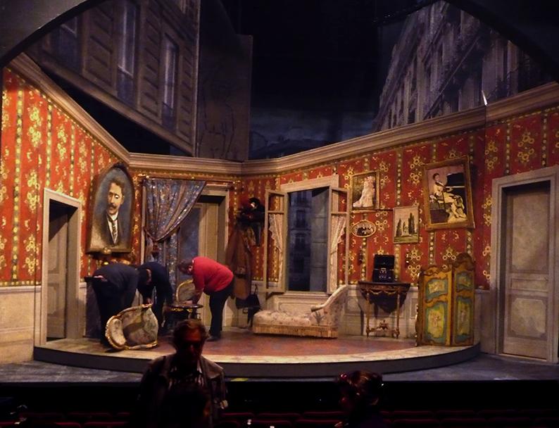 Systeme ribadier th tre du vieux colombier d cor jean for Decor de theatre