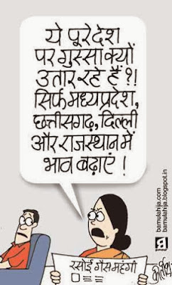 lpg subsidy cartoon, price hike, mahangai cartoon, election result, assembly elections 2013 cartoons, congress cartoon, cartoons on politics