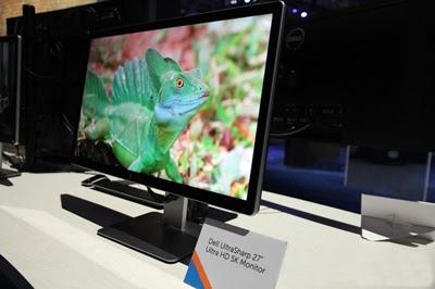O monitor Dell 5K UP2715K tem leitor de cartões e som integrado, além de tela de 5K