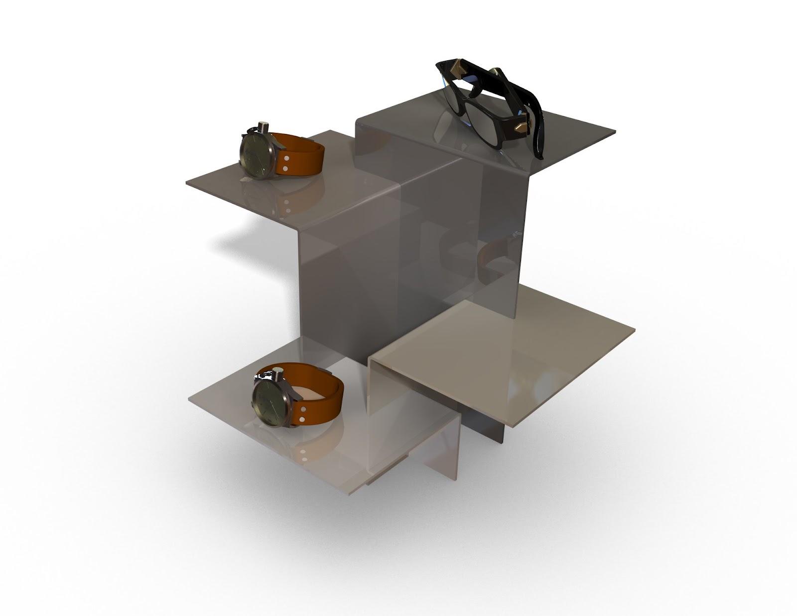jardim vertical autocad:Inovadisplay 3D Branding Design Expositor de bijuteria