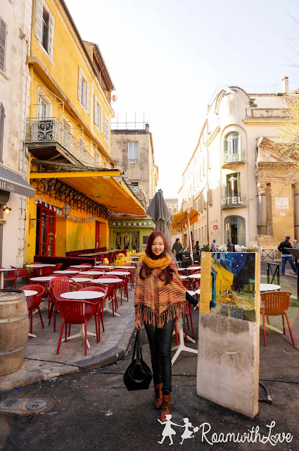 Honeymoon, ฮันนีมูน,review, france, โพรวองซ์, Provence, Arles,Vincent Van Gogh, ตามรอย,Arena,Cafe terrace at night