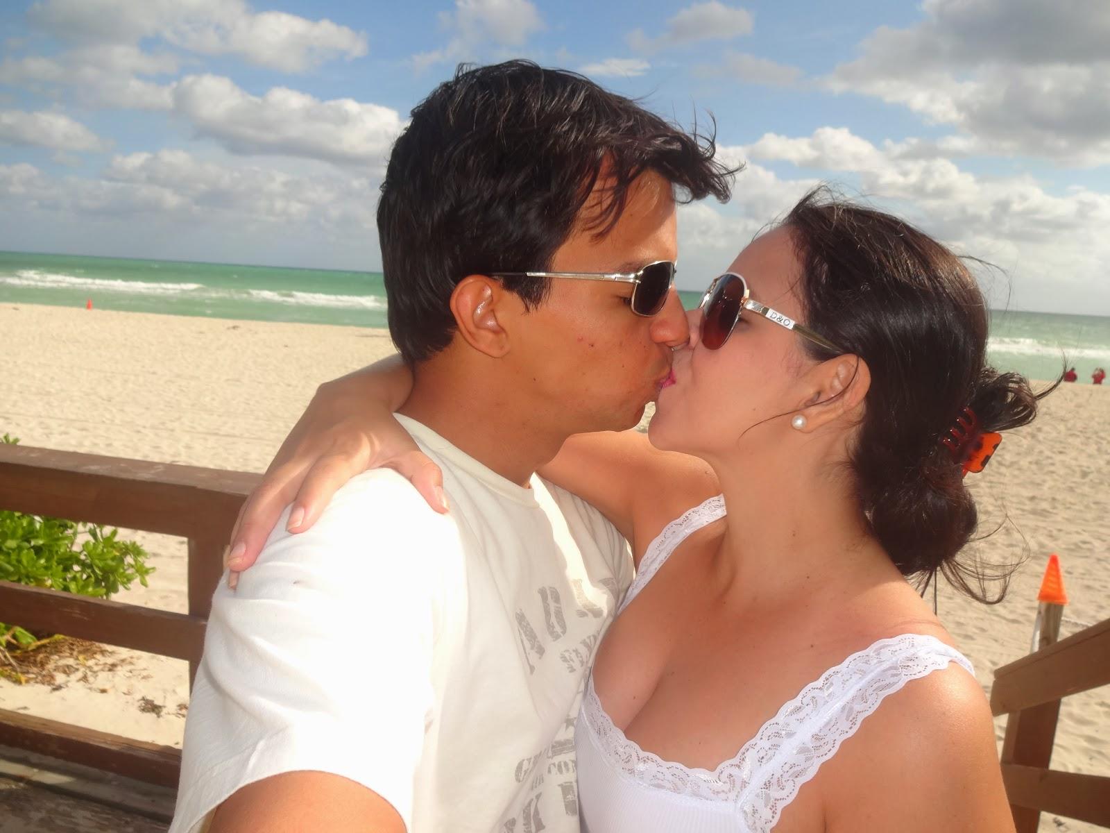 namorando em miami beach