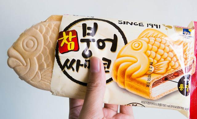 opening the korean fish ice cream