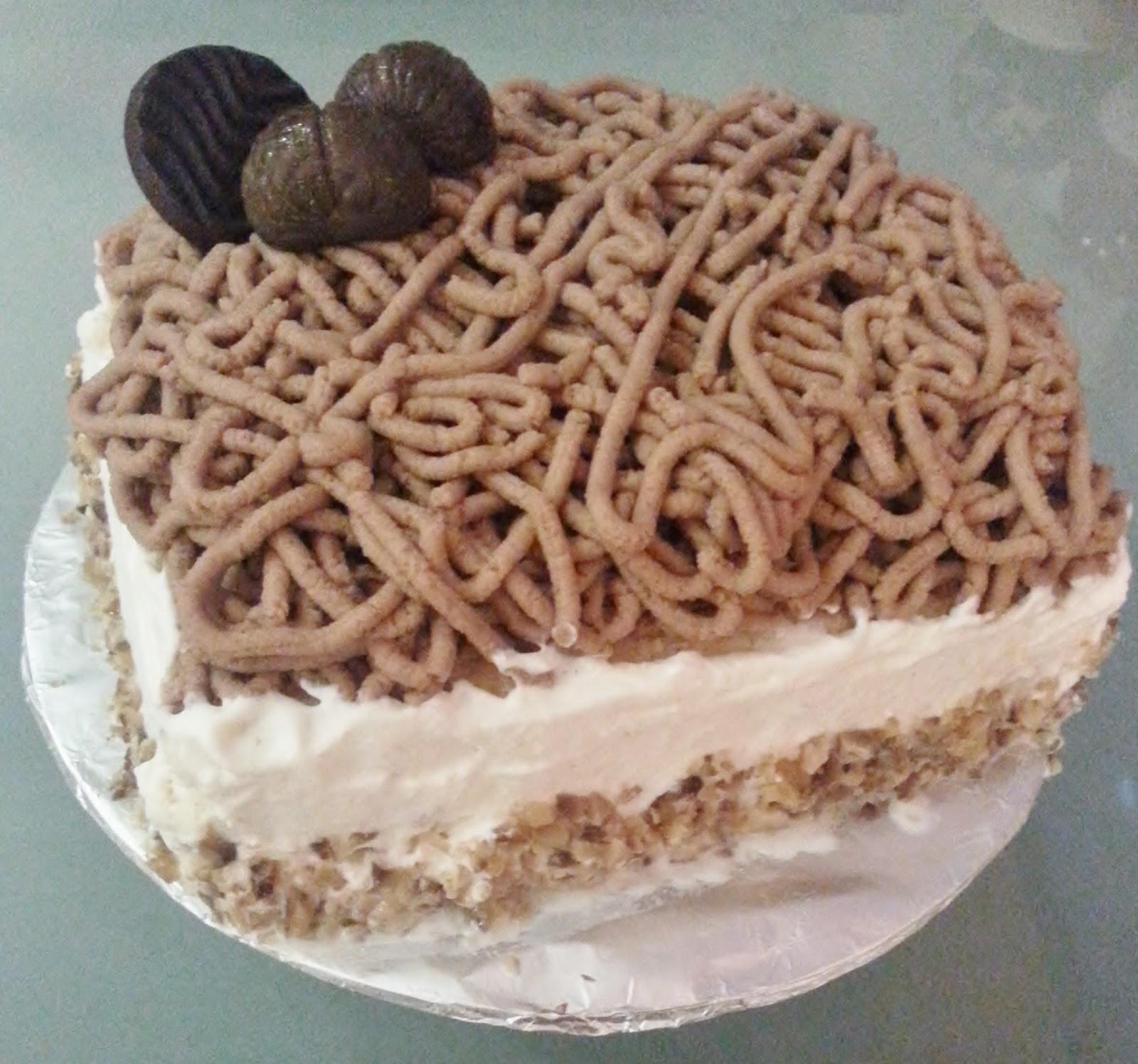 Chinese Chestnut Cream Cake Recipe