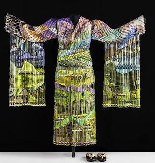 Markow & Norris Spring Dawn Kimono, 2012 woven glass