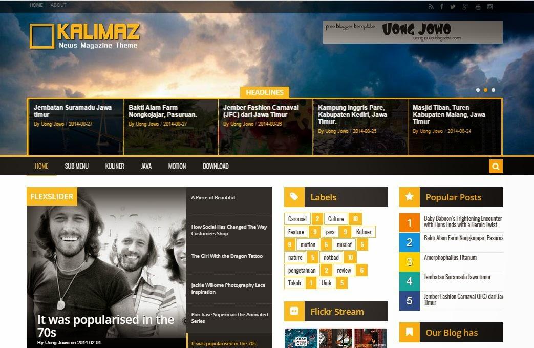 Theme Blogger Kalimaz Responsive