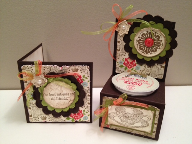 K-cup Holder with Antique Card