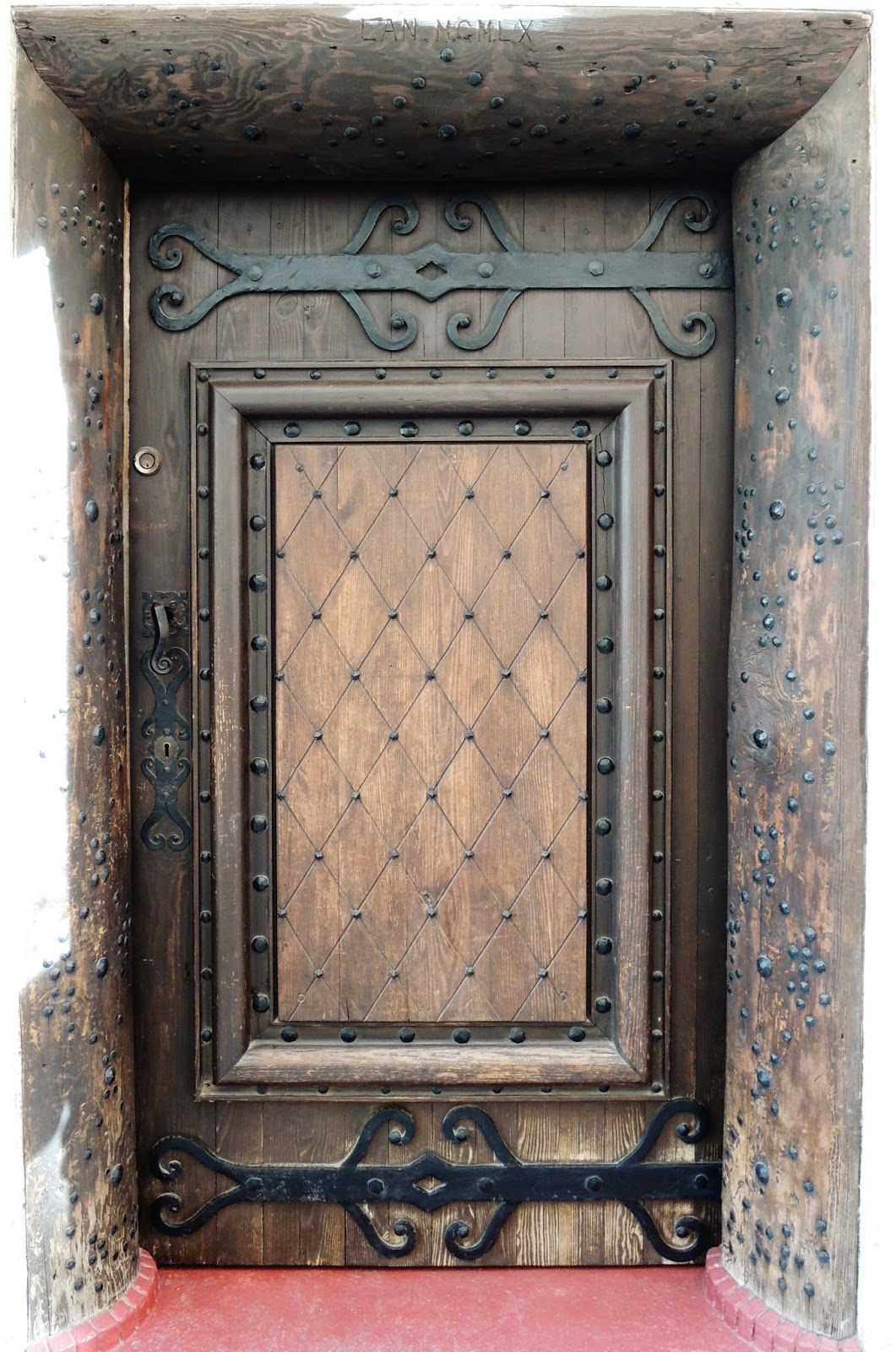 ancient door, iron trim, Cannes