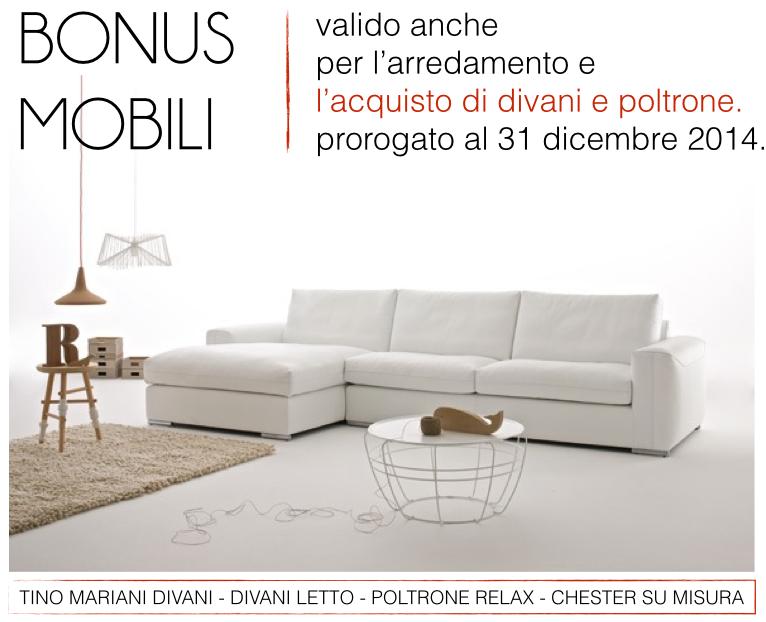 Divani e bonus mobili tino mariani for Acquisto mobili ristrutturazione 2018