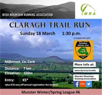 7km trail race nr Millstreet, NW Cork...Sun 18th Mar 2018