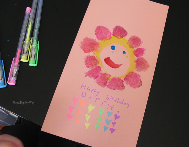 Threading my way make a handmade birthday card for a special occasion bookmarktalkfo Choice Image
