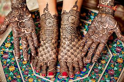 Bridal Mehndi Design Book : Bridal mehndi designs for hands backhand feet images back