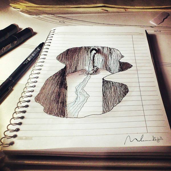 ... membuat lukisan 3 dimensi hanya dengan pensil dan bukan cuma 2 dimensi
