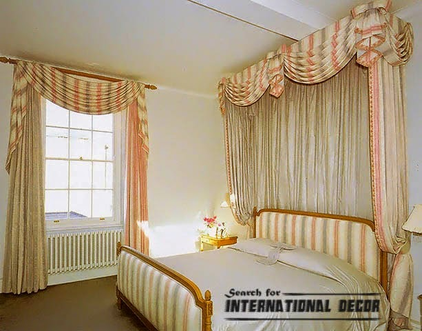 Classic striped curtain style for bedroom curtain designs for Bedroom window styles