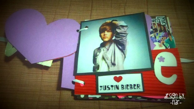 This Is My Card Story Justin Bieber Scrapbook
