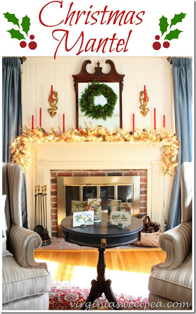 Virginia Sweetpea -Christmas Mantel-Treasure Hunt Thursday- From My Front Porch To Yours