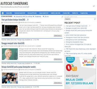 Kapan anda memerlukan blog AutoCAD Tangerang.