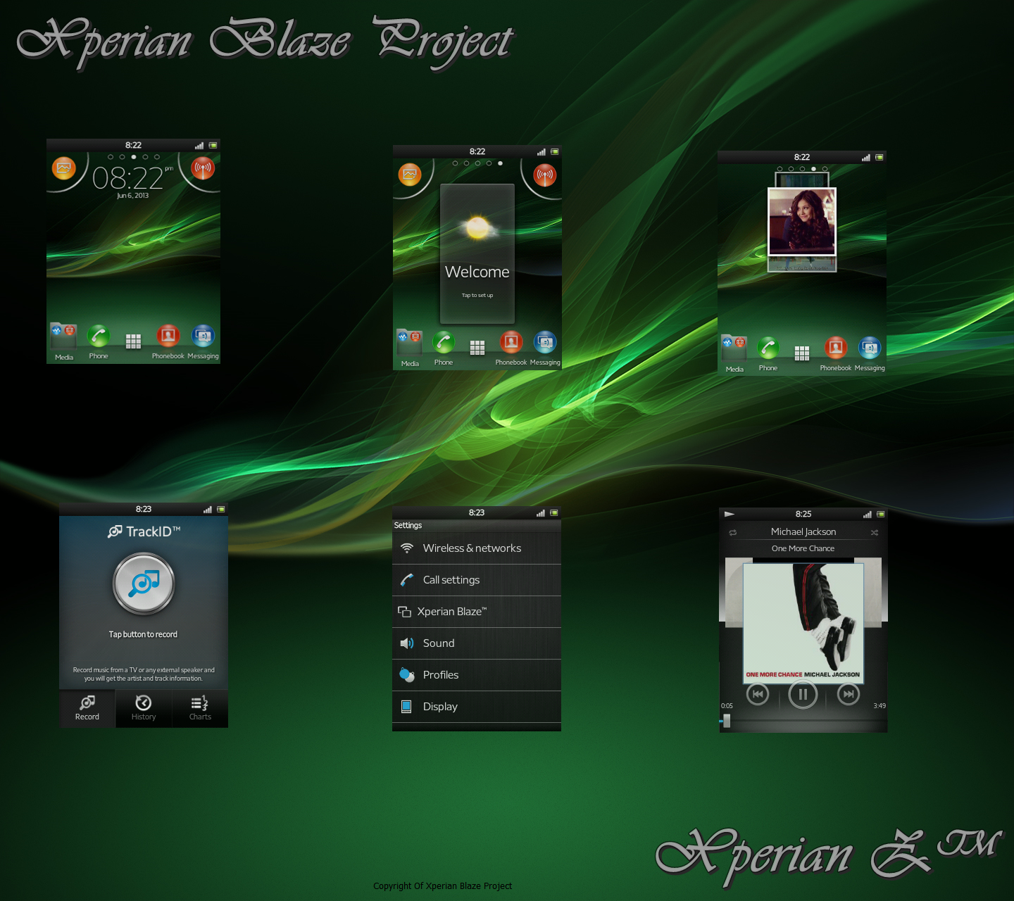 ROM  2 3 7 Xperian Blaze Project - Xperian    Z V2 1  New Version Xperia Wallpaper Green