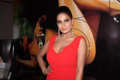 Veena Malik Hot Sexy Orange Dress