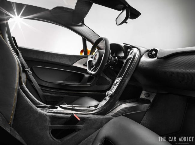 Interior of the 2013 McLaren P1
