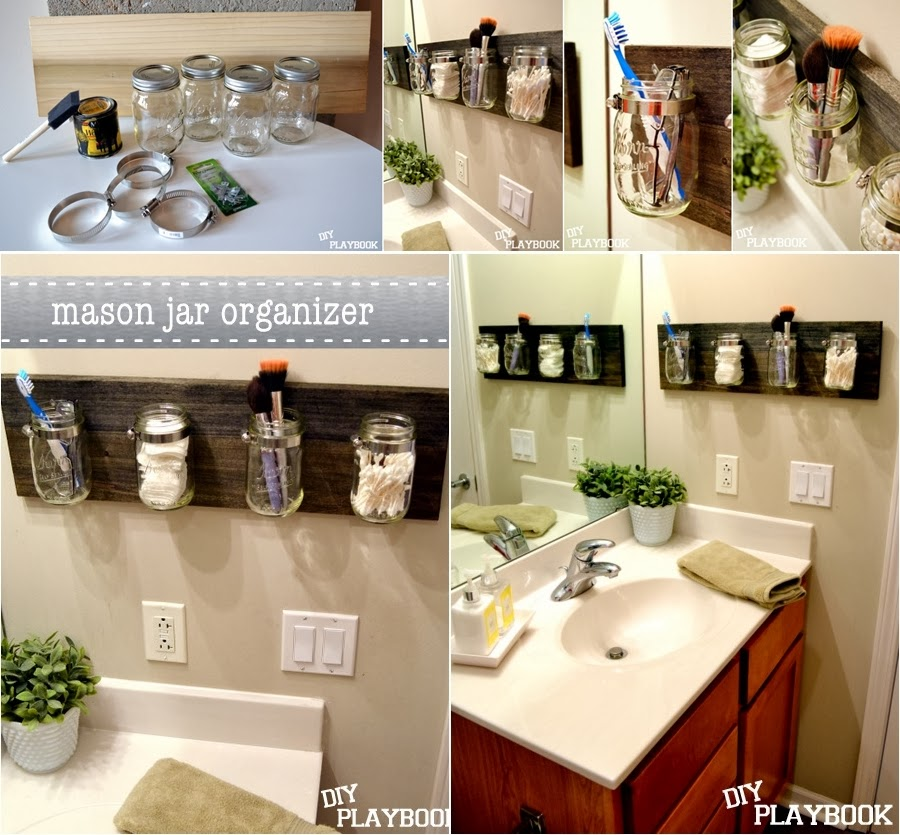 Perfect DIY Mason Jar Bathroom Organizer 900 x 835 · 159 kB · jpeg