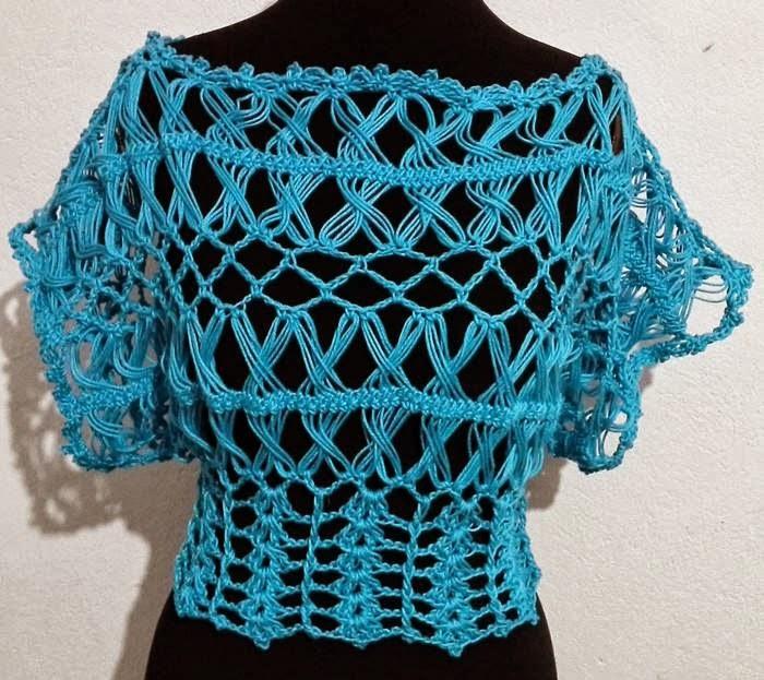 ... labores en Crochet: Blusa tejida en horquillas, crochet y dos agujas