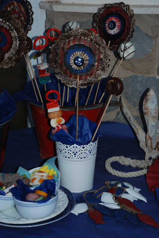 Mamolicas decoraci n fiesta marinera v parte mesa chuches - Fiesta marinera decoracion ...