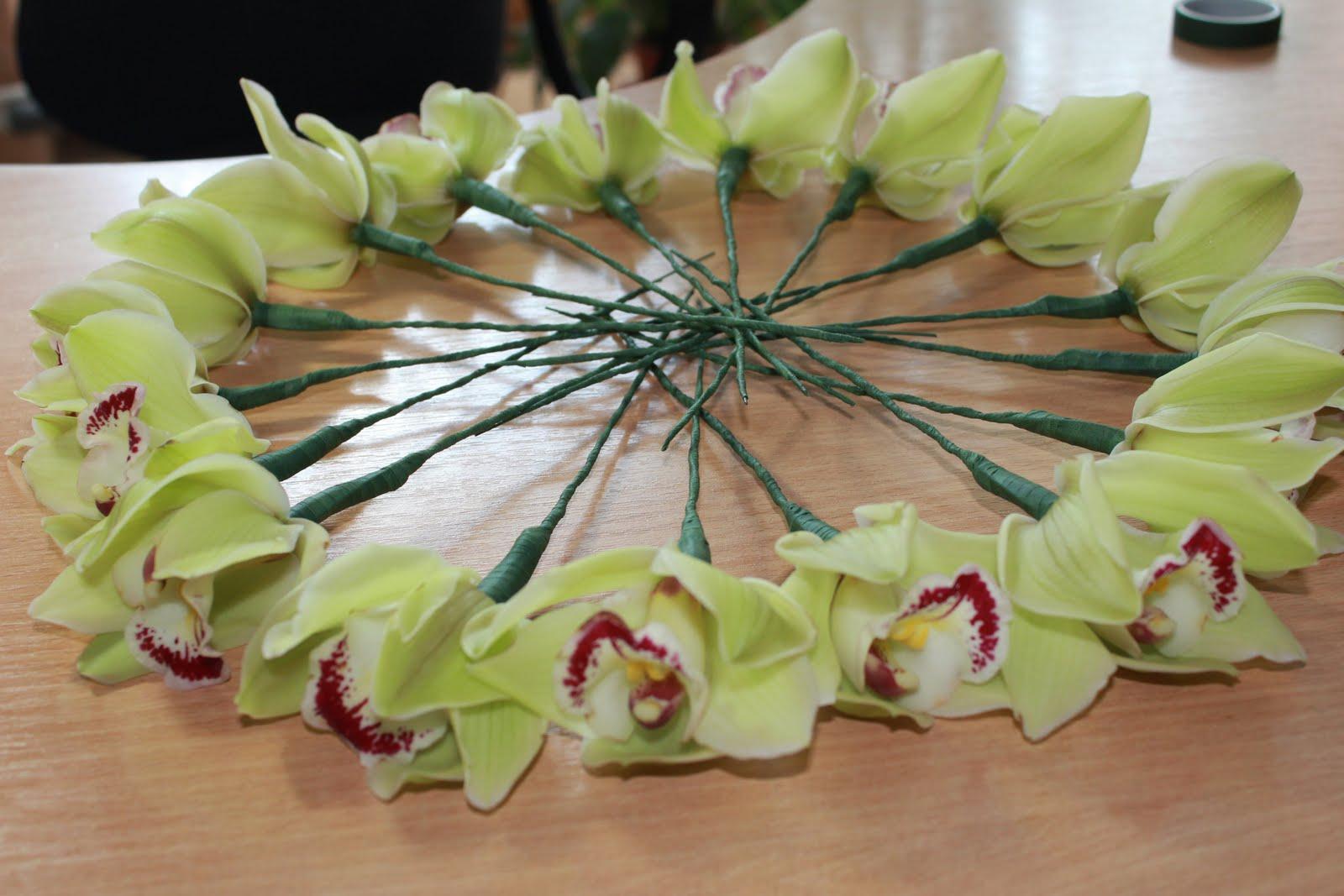 Букеты с орхидеями своими руками 160