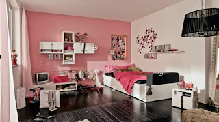 modern pink teen bedroom design