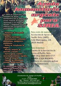 Ayuda humanitaria urgente par Siria, colabora!!