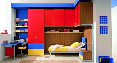 dekoratif+renkli+gen%25C3%25A7+odalar%25C4%25B1 Erkek Çocuk Yatak Odası Modelleri