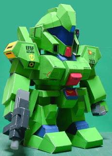RGM-89 Jegan Gundam Papercraft-1
