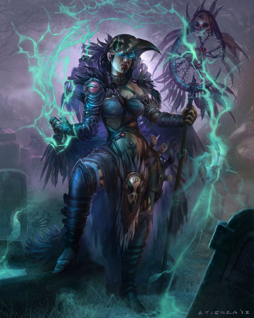 Female Necromancer por jubjubjedi