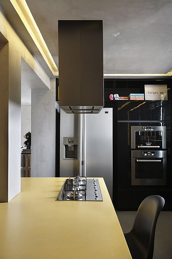 Small Apartment Apartment Design Kitchen Area Brown Table Top