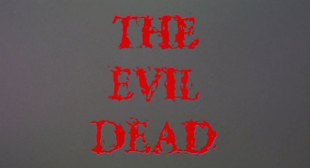 The Evil Dead title screen