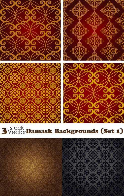 Vectors - Damask Backgrounds set 01